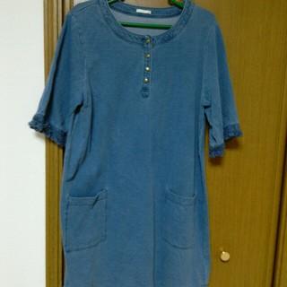 ジーユー(GU)の未使用大きいサイズ gu 五分袖(ミニワンピース)