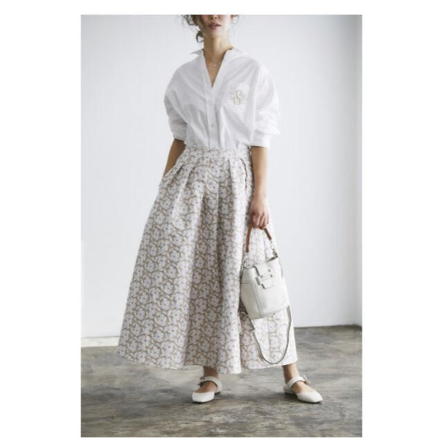 Drawer(ドゥロワー)のseventen by mihokawahito ジャガードスカート レディースのスカート(ロングスカート)の商品写真
