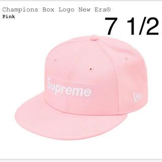 シュプリーム(Supreme)のSupreme Champions Box Logo New Era Pink(キャップ)