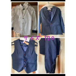 卒業式/入学式/スーツ(紺色) 男の子 120 美品 5点セット
