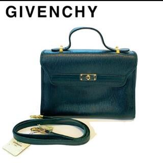 ジバンシィ(GIVENCHY)のGIVENCY ジバンシー 2way レザー ハンドバッグ ショルダーバッグ 緑(ショルダーバッグ)