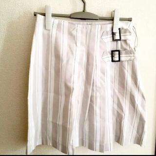 ロートレアモン(LAUTREAMONT)のロートレアモン❤️定¥18000 白ベージュスカート ラップ M 9号 値下げ(ひざ丈スカート)