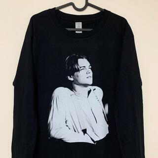 レオナルド ディカプリオ ロンT ロング Tシャツ 黒