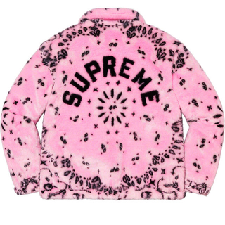 Supreme - Bandana Faux Fur Bomber Jacket Pink