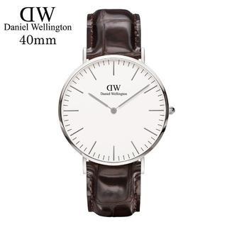 ダニエルウェリントン(Daniel Wellington)のDanielWellingtonシルバー 腕時計0211DW40mm(腕時計(アナログ))
