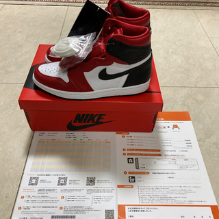 NIKE - AIR JORDAN1 SATIN RED WMNS26.0cm