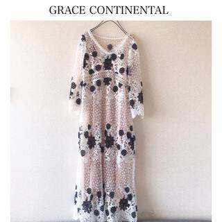 GRACE CONTINENTAL - グレースコンチネンタル フラワーワンピース