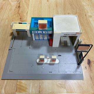 トミー(TOMMY)の【ジャンク】 レア 当時物 1977年 トミカラマ ガソリンスタンド 日本石油(模型/プラモデル)