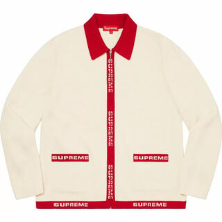 Supreme - Supreme Logo Trim Zip Up Cardigan XL