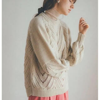 STUDIOUS - 【新品未使用】CLANE OPENWORK CABLE KNIT
