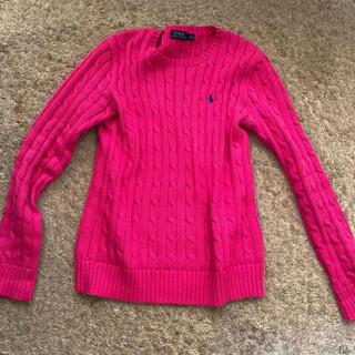 Ralph Lauren - 【美品】ラルフローレン  Mサイズ セーター ニット 春色 ピンク