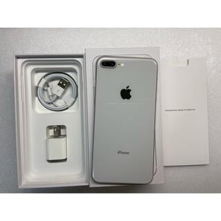 アイフォーン(iPhone)のiphone8 Plus Silver 64Gb Simフリーバッテリー100%(携帯電話本体)