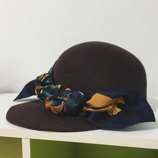カシラ(CA4LA)のバラ色の帽子 スカーフハット(ハット)