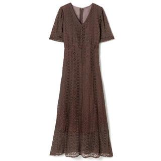 GRL - GRL レースワンピース モカ ブラウン 人気 上品 韓国ファッション