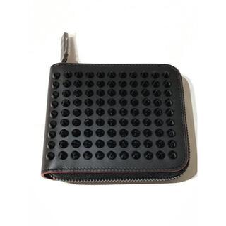 クリスチャンルブタン(Christian Louboutin)のクリスチャンルブタン★ラウンドジップスタッズレザー二つ折財布ウォレット(財布)