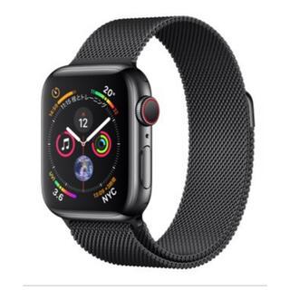 Apple Watch - AppleWatchSeries4 40mm ステンレスブラック 新品未開封