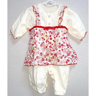 ニシキベビー(Nishiki Baby)のニシキ ワンピース風カバーオール 50-60cm(カバーオール)