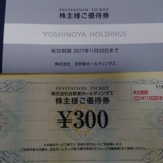 吉野家ホールディングス 3000円分(300円×10枚)