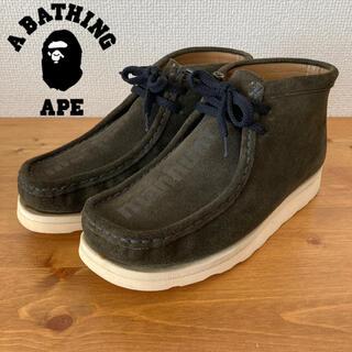 アベイシングエイプ(A BATHING APE)の【美品】A BATHING APE MANHUNT スエード ブーツ エイプ(ブーツ)