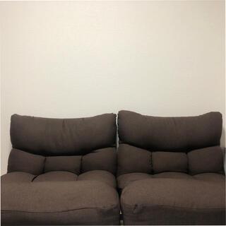 ニトリ(ニトリ)のつながるポケットコイル座椅子(レガ) ニトリ ダークブラウン(一人掛けソファ)