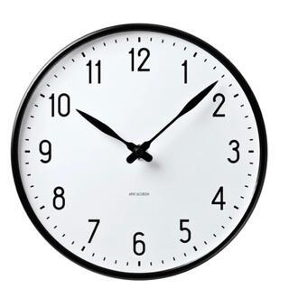 アルネヤコブセン(Arne Jacobsen)の⭐️新品未使用 アルネヤコブセン ステーションクロック 21cm(掛時計/柱時計)