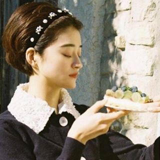 flower jewel headband(カチューシャ)