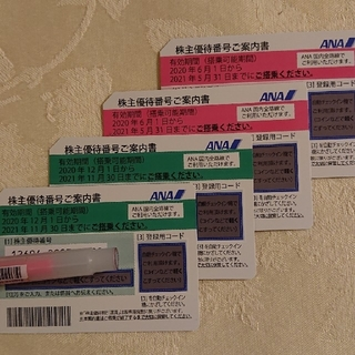 ☆ANA株主優待券 4枚☆(その他)