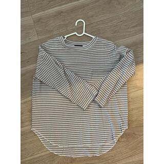メルロー(merlot)のmerlot ブラウンボーダーTシャツ(Tシャツ(長袖/七分))