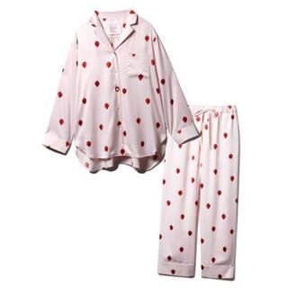 ジェラートピケ(gelato pique)のPARIYA イチゴサテンシャツ パンツ◆ジェラートピケ 新品未使用 上下セット(ルームウェア)