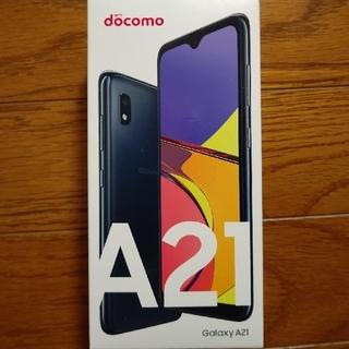 NTTdocomo - Galaxy A21 SC-42A ドコモ 新品 ブラック SIMロック解除可