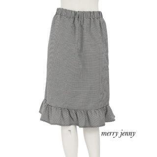 メリージェニー(merry jenny)の新品 merry jenny ギンガムチェックスカート(ひざ丈スカート)