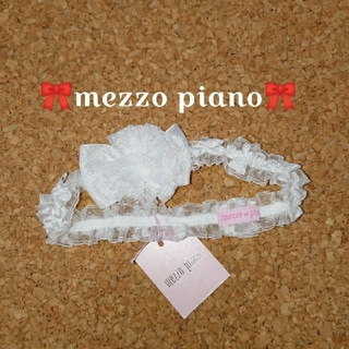 mezzo piano - mezzo piano リボンレースヘッドバンド