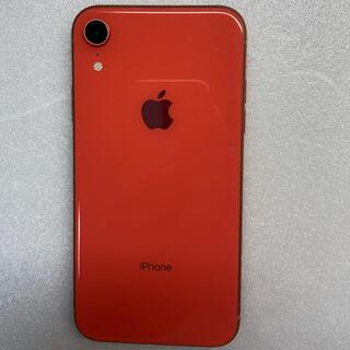 アイフォーン(iPhone)のiphone XR Coral 64Gb Simフリーバッテリー100%(スマートフォン本体)