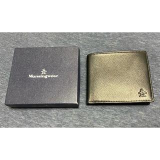 マンシングウェア(Munsingwear)のMunsingwear 二つ折り財布 牛革 箱あり(折り財布)