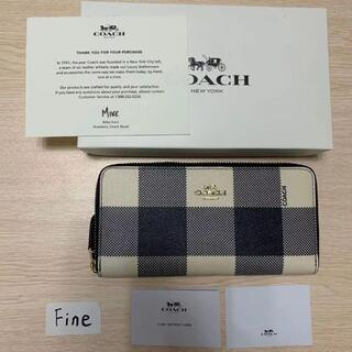 COACH - 新品未使用品COACH 長財布 コーチメンズレディースジッパー財布F25966