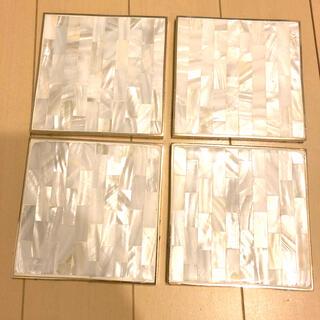 ZARA HOME - ZARA HOME シェルコースター 4枚セット