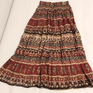 Santa Monica - 【美品】USED vintage  エスニック柄ロングマキシスカート