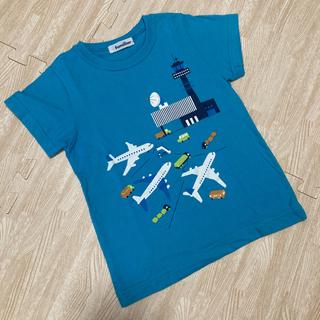 familiar - ファミリア Tシャツ 飛行機 ブルー 110