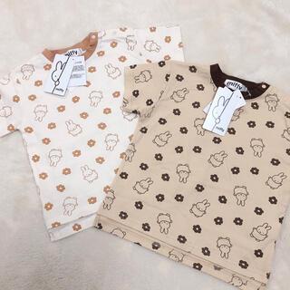 新品タグ付き ミッフィー 総柄Tシャツ 90