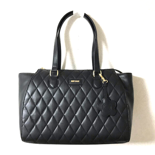 MARY QUANT - マリークワント トートバッグ チャーム付きバッグ黒 ブラック新品