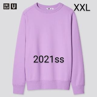 UNIQLO - ユニクロ ユニクロユー ワイドフィットスウェットシャツ パープル XXL 新品