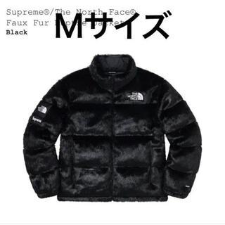 シュプリーム(Supreme)のSupreme TNF Faux Fur Nuptse Jacket Black(ダウンジャケット)