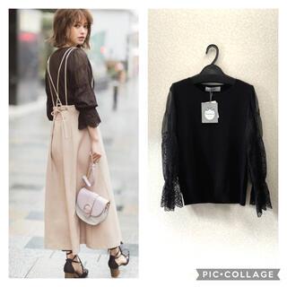 Rirandture - 新品 リランドチュール カットワーク刺繍袖透けニット