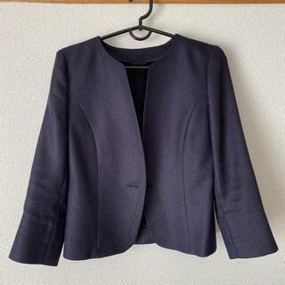 ANAYI - ANAYI 紺ノーカラージャケット