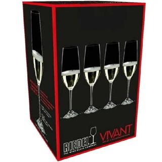 リーデル(RIEDEL)のリーデル シャンパングラス 4本セット セットグラス ワイングラス(グラス/カップ)