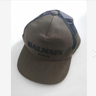 バルマン(BALMAIN)の新品7.99万 BALMAIN キャップ カーキ メッシュ ロゴ バルマン(キャップ)