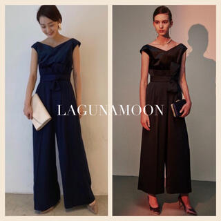 ラグナムーン(LagunaMoon)のLAGUNAMOON LADYベルベットパンツドレス(ロングドレス)
