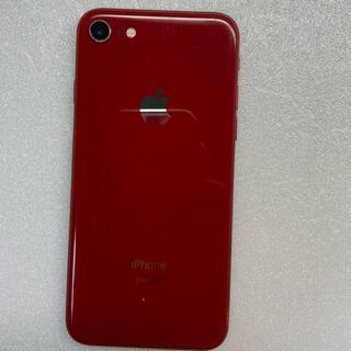 アイフォーン(iPhone)のiphone8 Red 64Gb Simフリーバッテリー100%(スマートフォン本体)