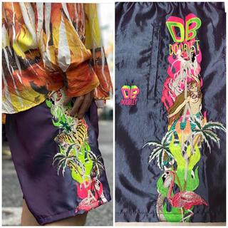 【新品】ダブレット doublet カオス刺繍パンツ パープル サイズXL