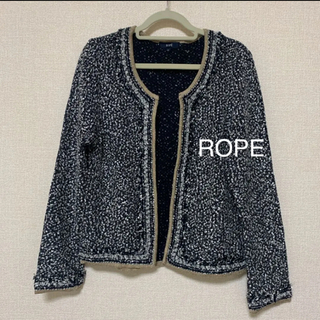 ロペ(ROPE)のROPE ジャケット M(ノーカラージャケット)